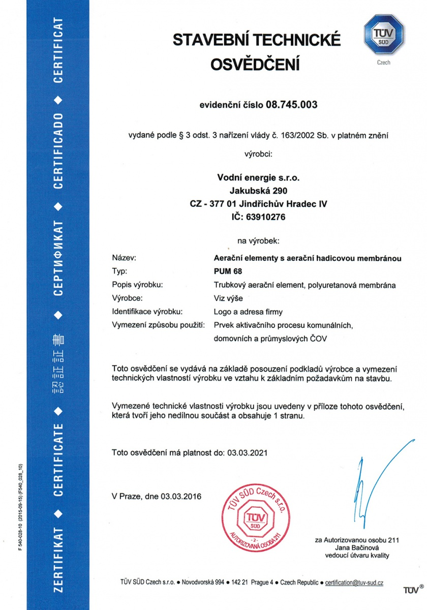 Building Technical Certificate